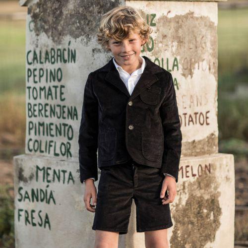 Pantalon archie velvet negro