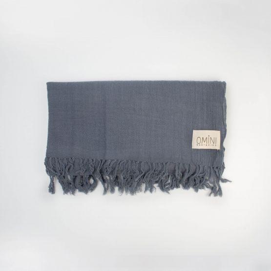 Manta de lana azul