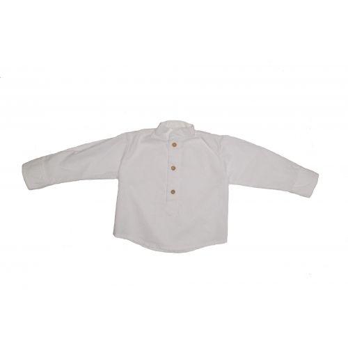 Camisa polera print blanca