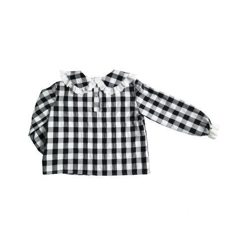 Camisa Cuello Corazón Vichi Negro