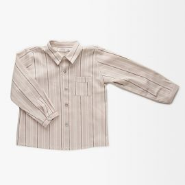 Camisa New York Rayas Beige
